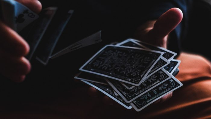 Full stack of cards